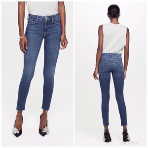 MOTHER Looker Ankle Fray Jeans in Girl Crush Sz 25